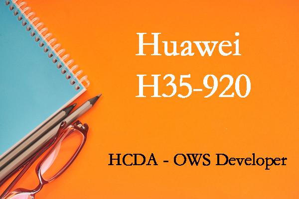 H35-920 HCDA - OWS Developer