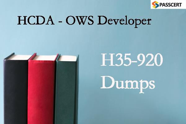 Passcert HCDA - OWS Developer H35-920 Dumps