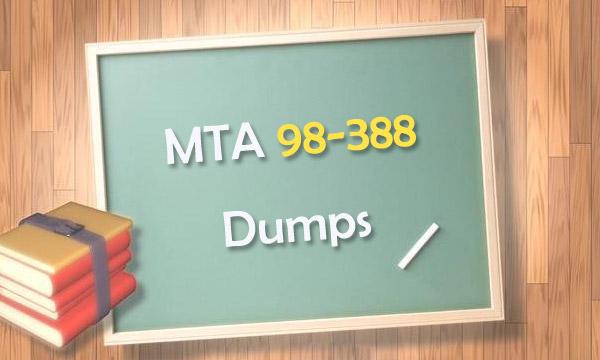 MTA 98-388 Dumps