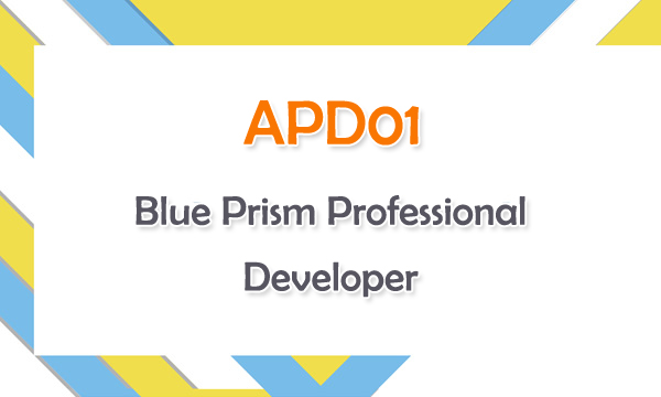 APD01 Blue Prism Professional Developer