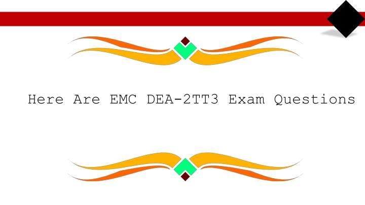 Download DEA-2TT3 CIS v3 exam questions to practice