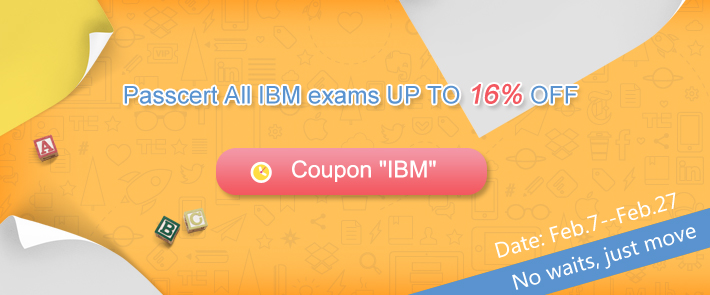 Passcert All IBM exams UP TO 16% OFF