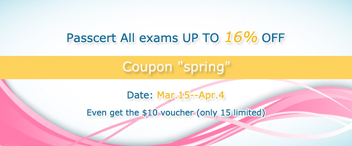 Passcert All exams UP TO 16% OFF